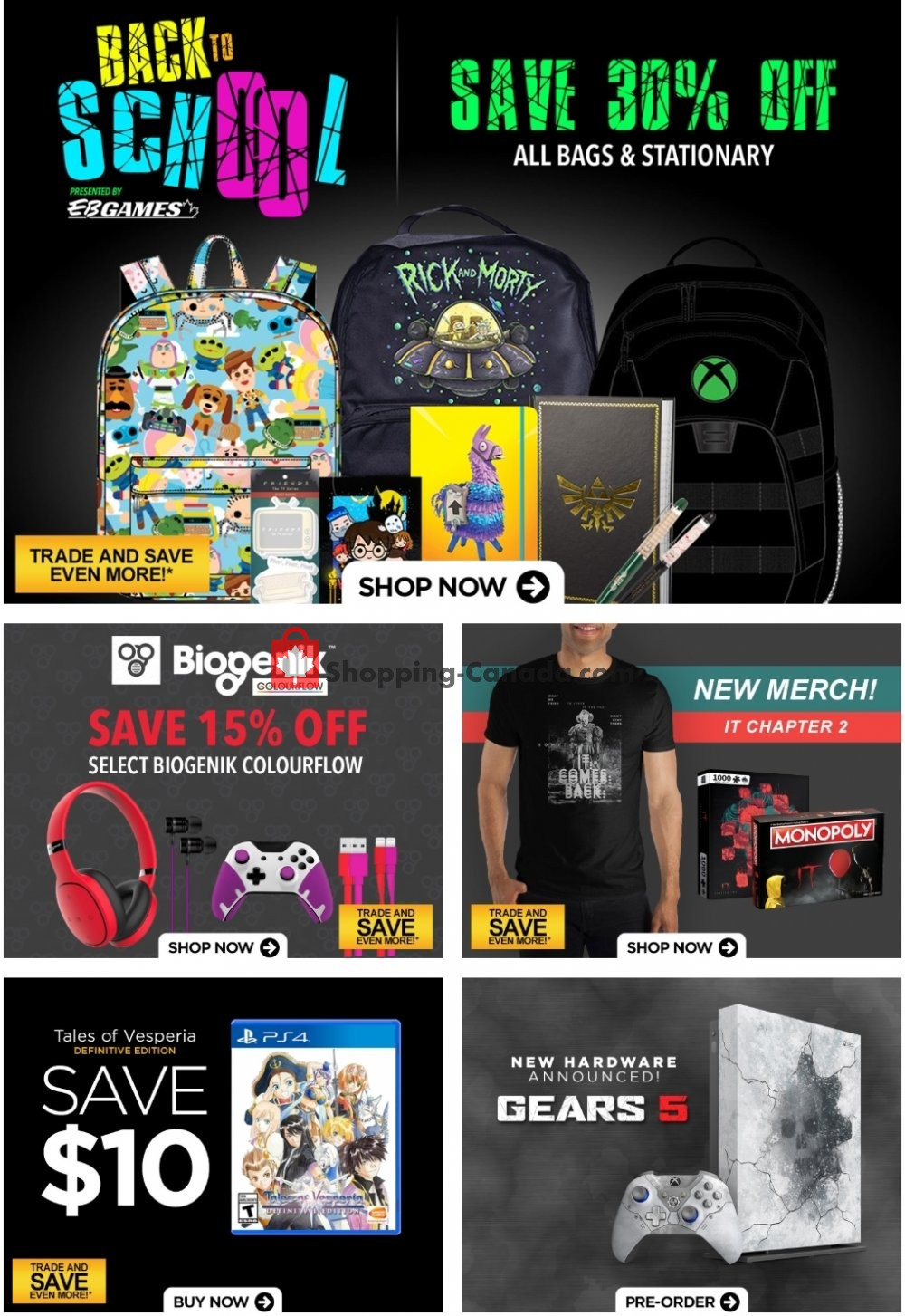 Flyer EB Games Canada - from Friday August 9, 2019 to Thursday August 15, 2019