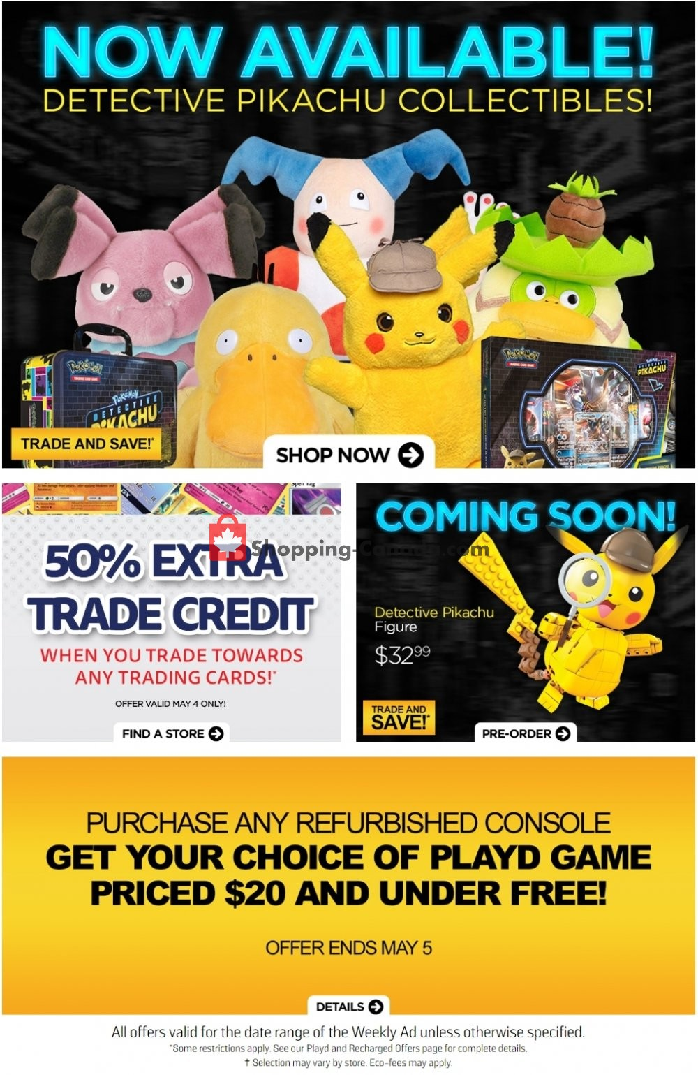 Flyer EB Games Canada - from Friday May 3, 2019 to Thursday May 9, 2019