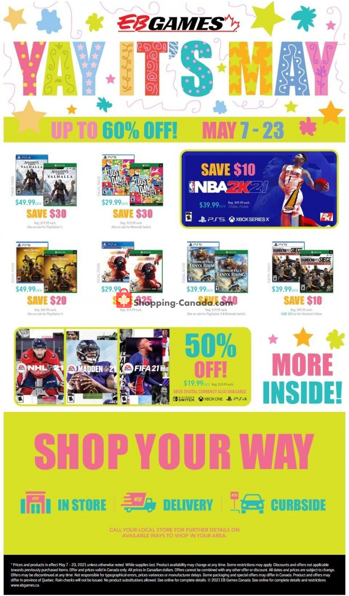 Flyer EB Games Canada - from Friday May 7, 2021 to Sunday May 23, 2021