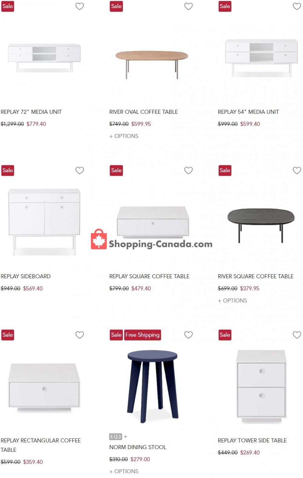 Flyer EQ3 Furniture & Accents Canada - from Wednesday July 15, 2020 to Tuesday July 21, 2020