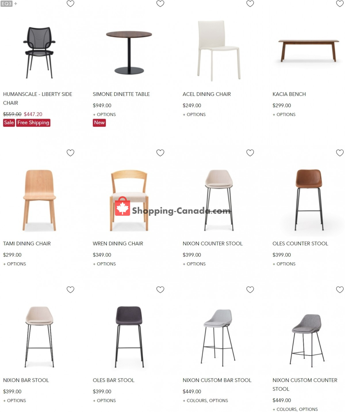 Flyer EQ3 Furniture & Accents Canada - from Tuesday June 8, 2021 to Monday June 14, 2021