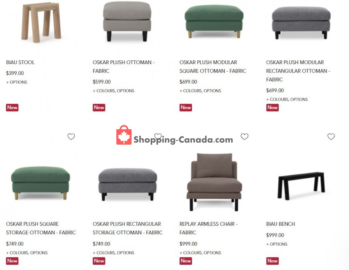 Flyer EQ3 Furniture & Accents Canada - from Tuesday October 12, 2021 to Monday October 18, 2021