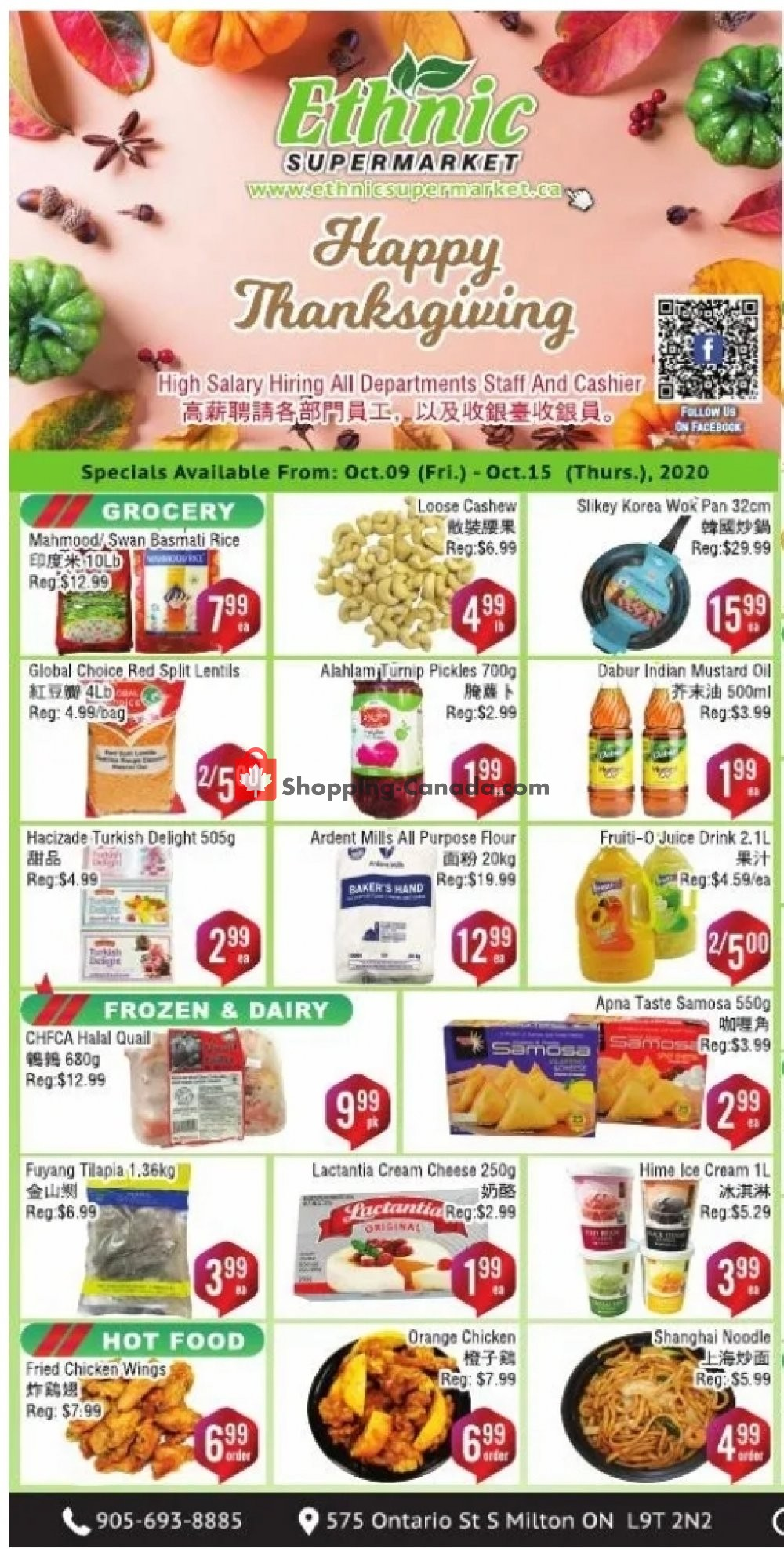 Flyer Ethnic Supermarket Canada - from Friday October 9, 2020 to Thursday October 15, 2020