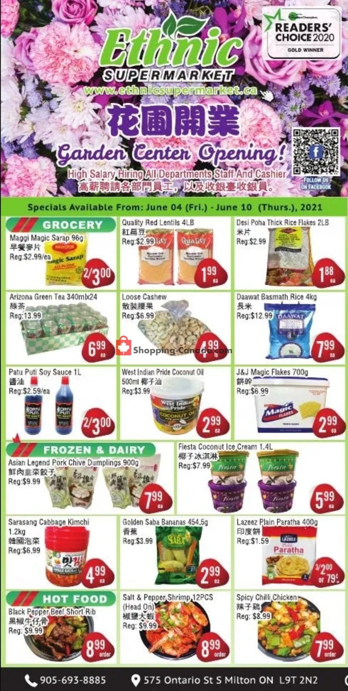 Flyer Ethnic Supermarket Canada - from Friday June 4, 2021 to Thursday June 10, 2021