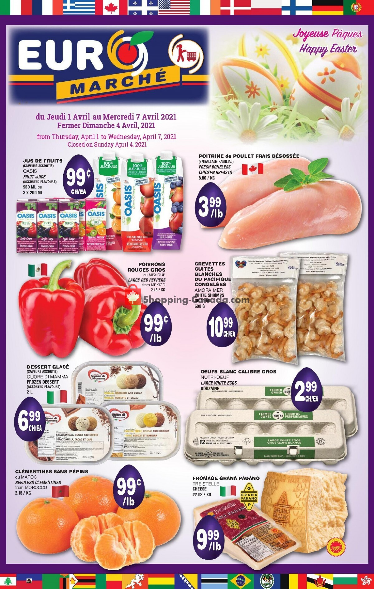 Flyer Euro Marché Canada - from Thursday April 1, 2021 to Wednesday April 7, 2021