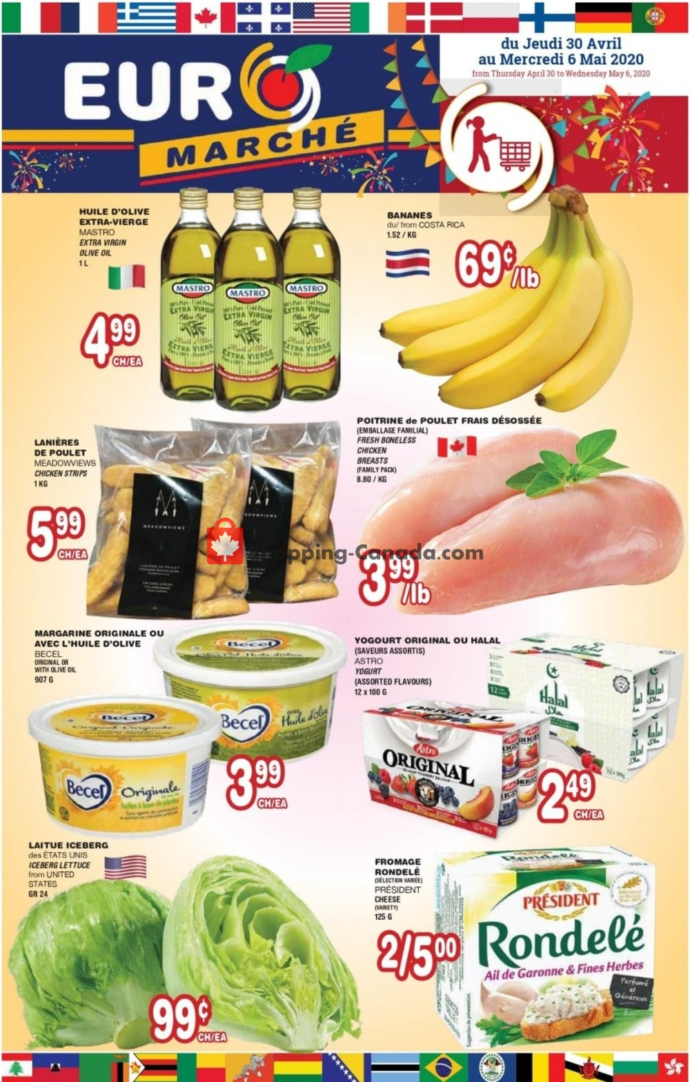 Flyer Euro Marché Canada - from Thursday April 30, 2020 to Wednesday May 6, 2020