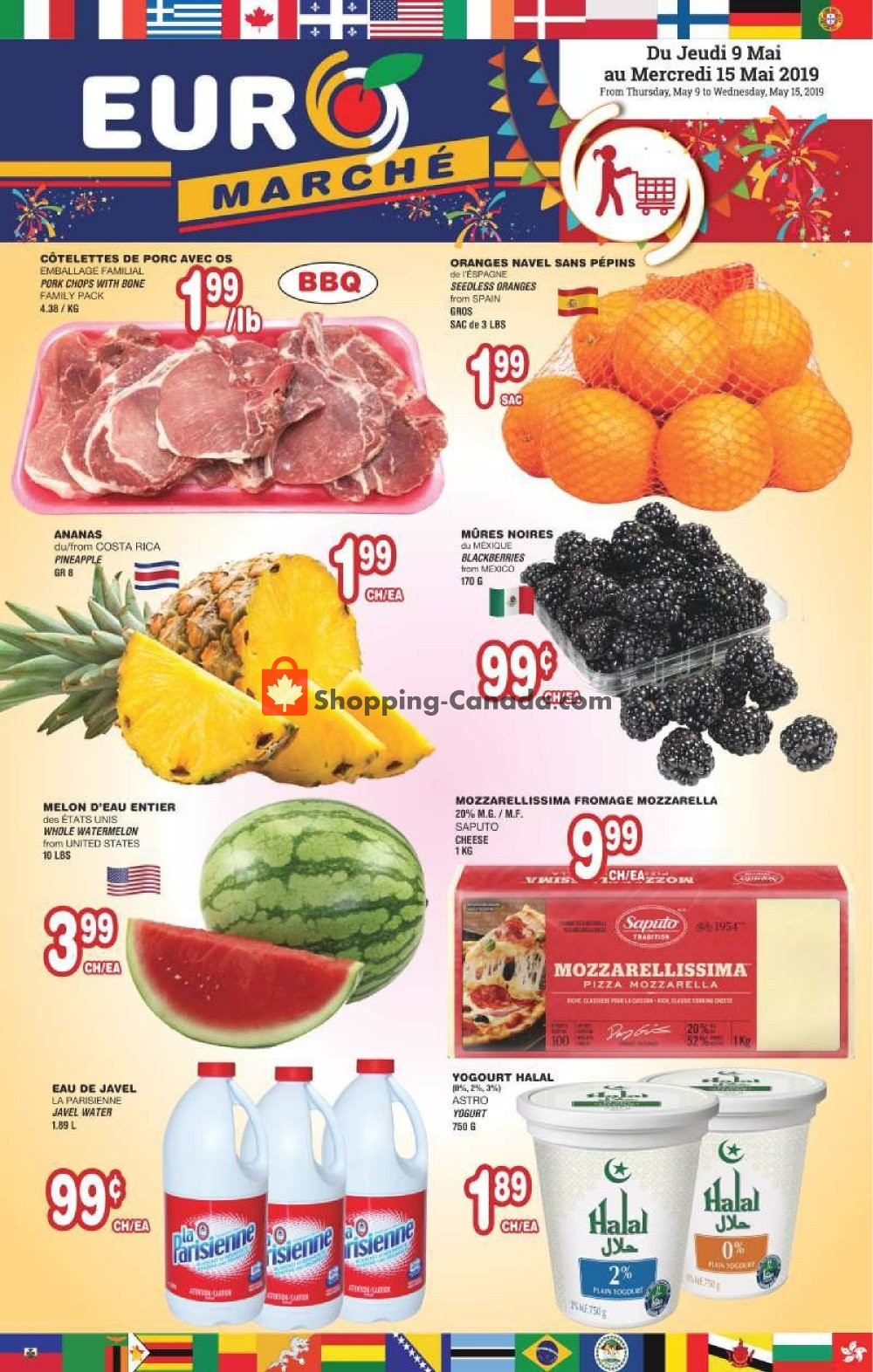 Flyer Euro Marché Canada - from Thursday May 9, 2019 to Wednesday May 15, 2019