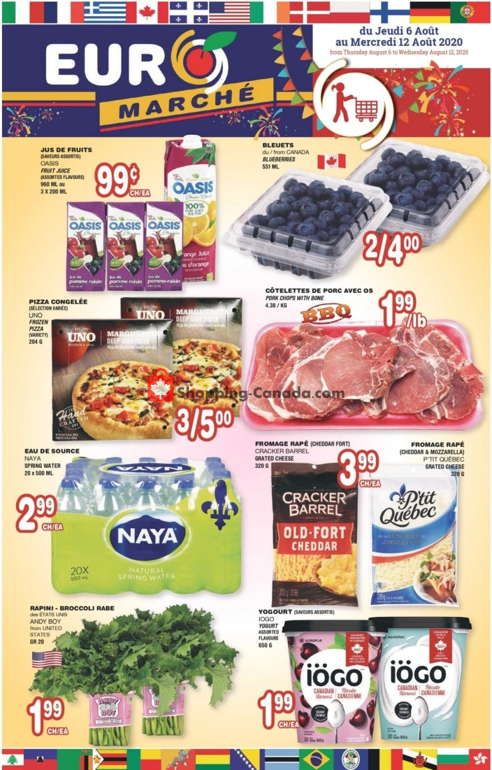Flyer Euro Marché Canada - from Thursday August 6, 2020 to Wednesday August 12, 2020