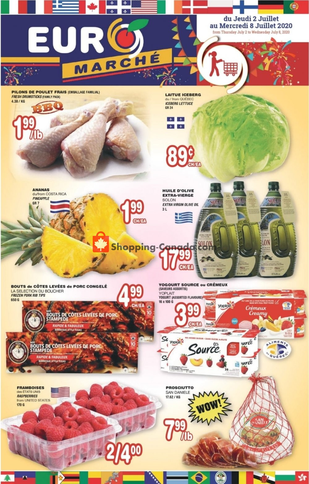 Flyer Euro Marché Canada - from Thursday July 2, 2020 to Wednesday July 8, 2020