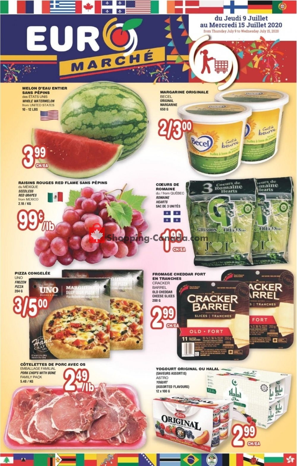Flyer Euro Marché Canada - from Thursday July 9, 2020 to Wednesday July 15, 2020