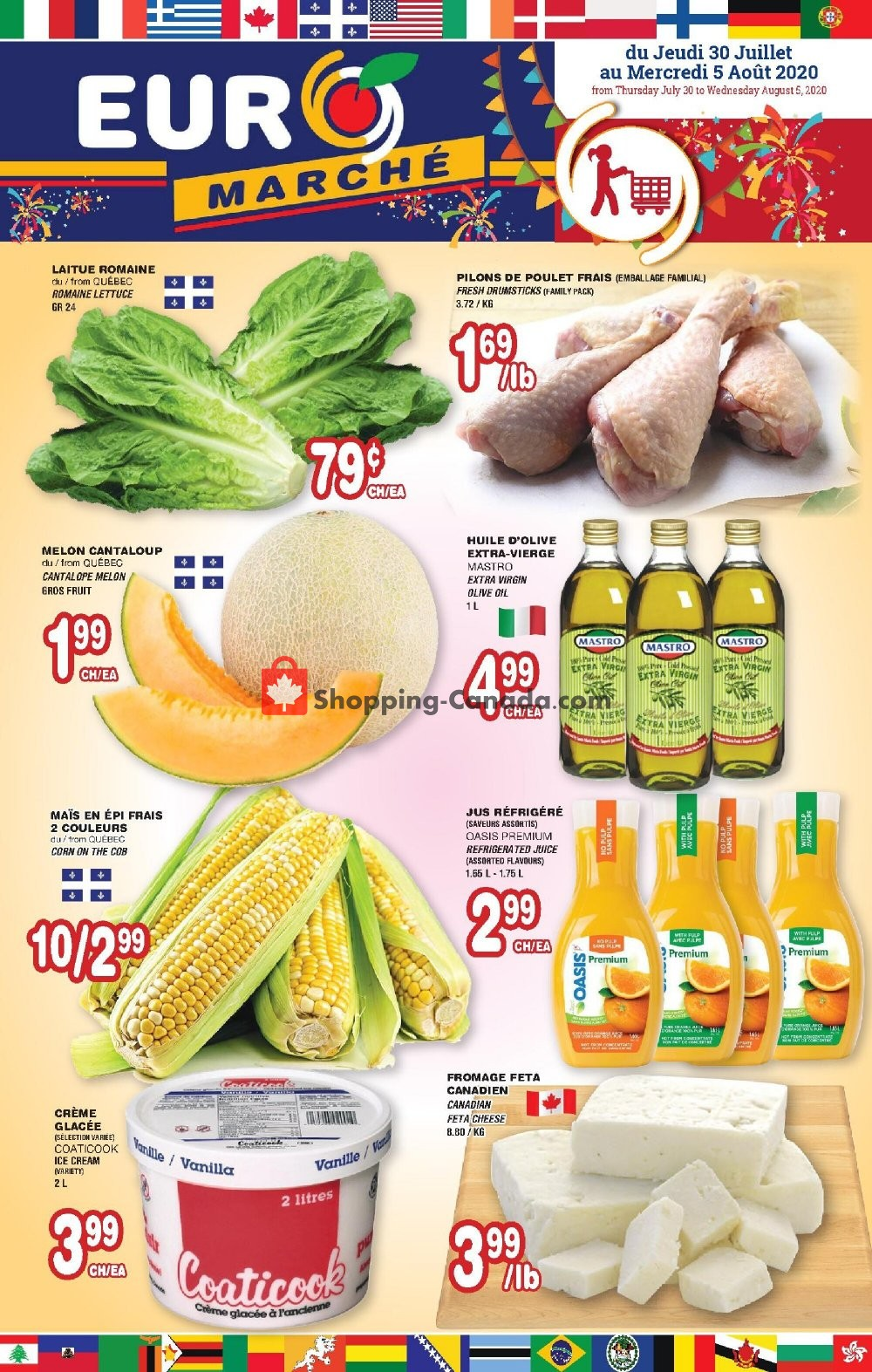 Flyer Euro Marché Canada - from Thursday July 30, 2020 to Wednesday August 5, 2020