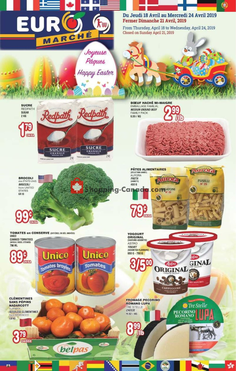 Flyer Euro Marché Canada - from Thursday April 18, 2019 to Wednesday April 24, 2019