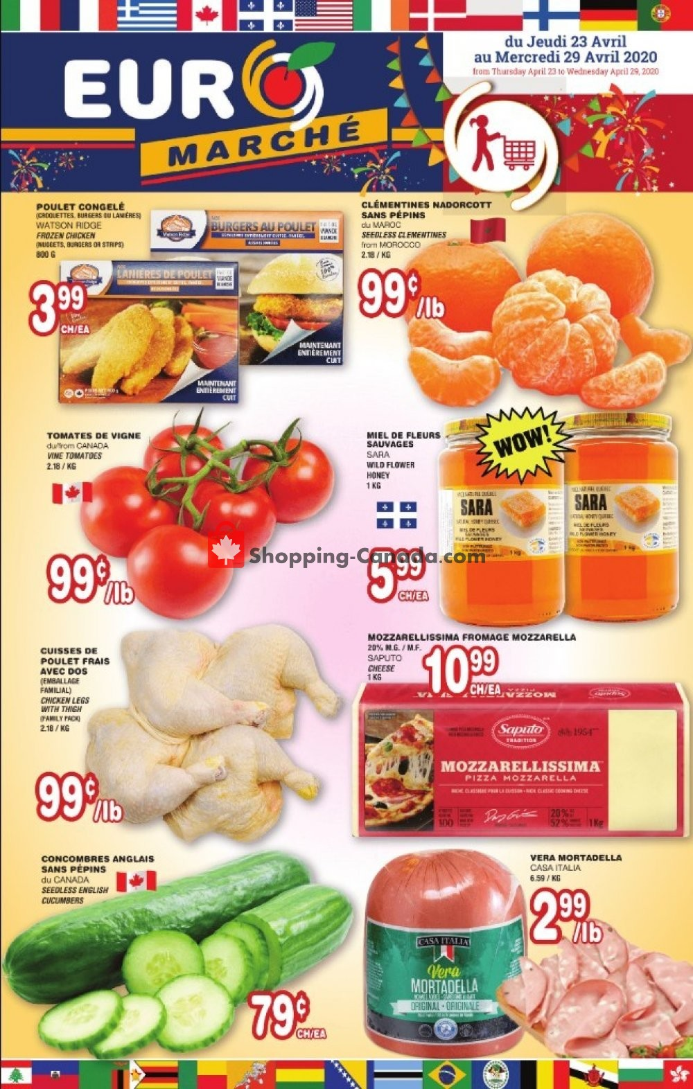 Flyer Euro Marché Canada - from Thursday April 23, 2020 to Wednesday April 29, 2020