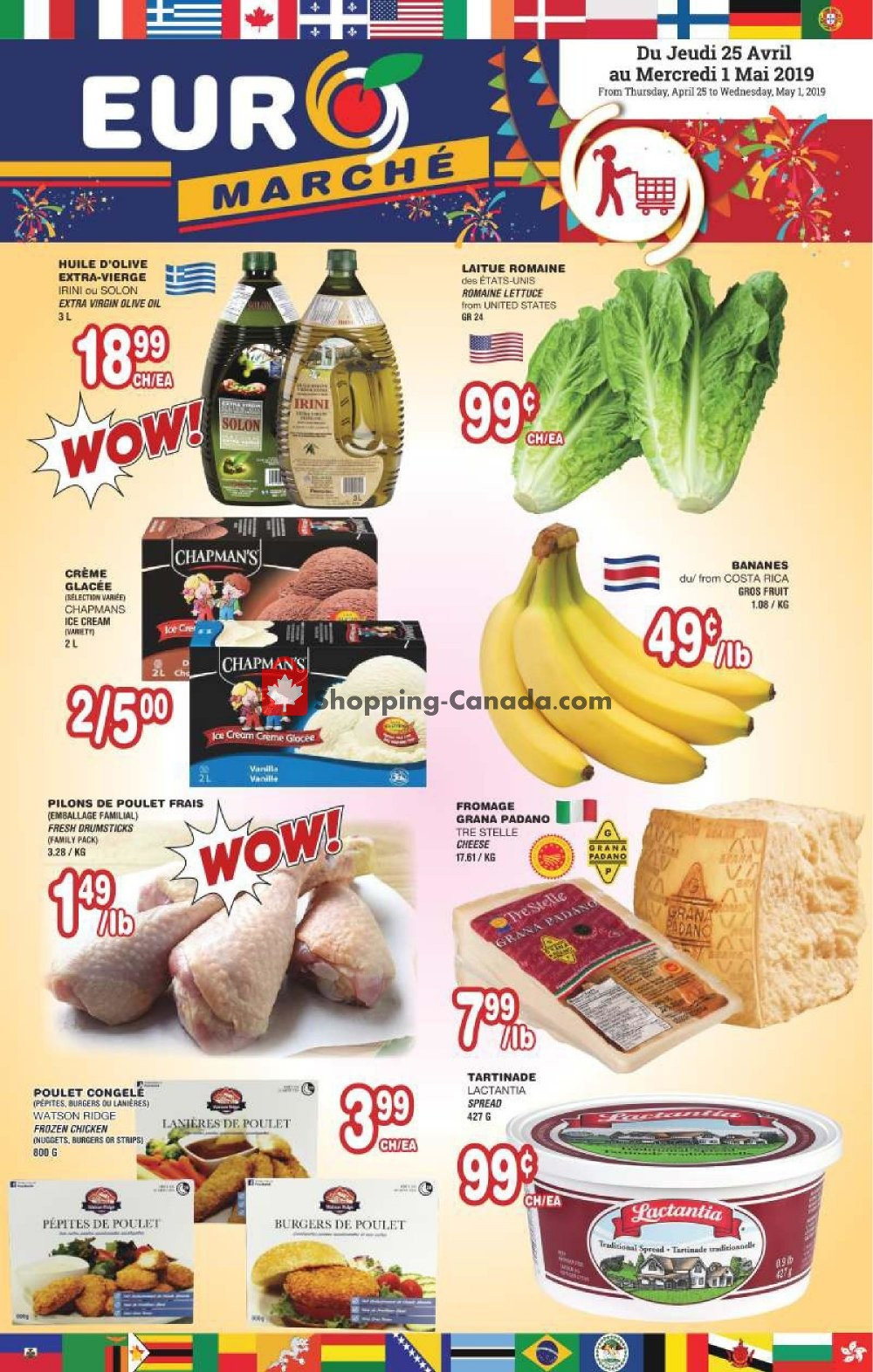 Flyer Euro Marché Canada - from Thursday April 25, 2019 to Wednesday May 1, 2019