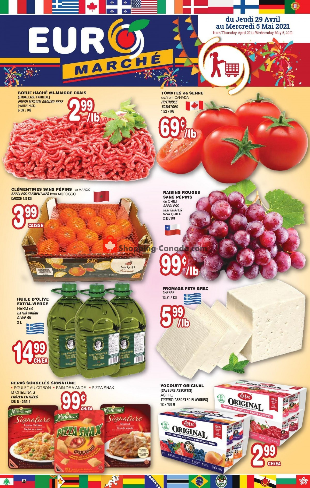 Flyer Euro Marché Canada - from Thursday April 29, 2021 to Wednesday May 5, 2021