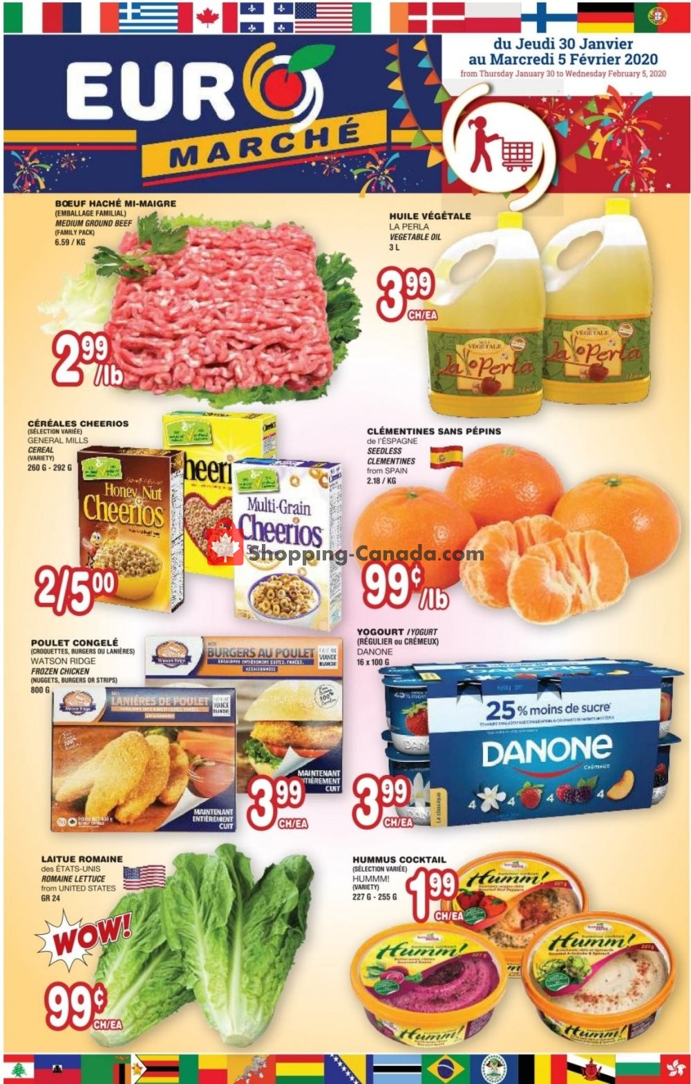 Flyer Euro Marché Canada - from Thursday January 30, 2020 to Wednesday February 5, 2020