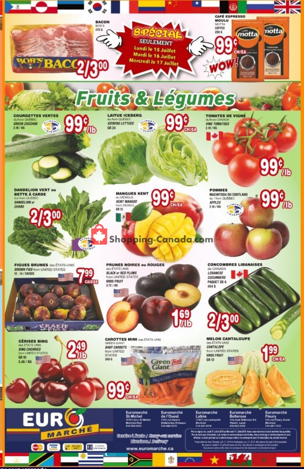 Flyer Euro Marché Canada - from Thursday July 11, 2019 to Wednesday July 17, 2019