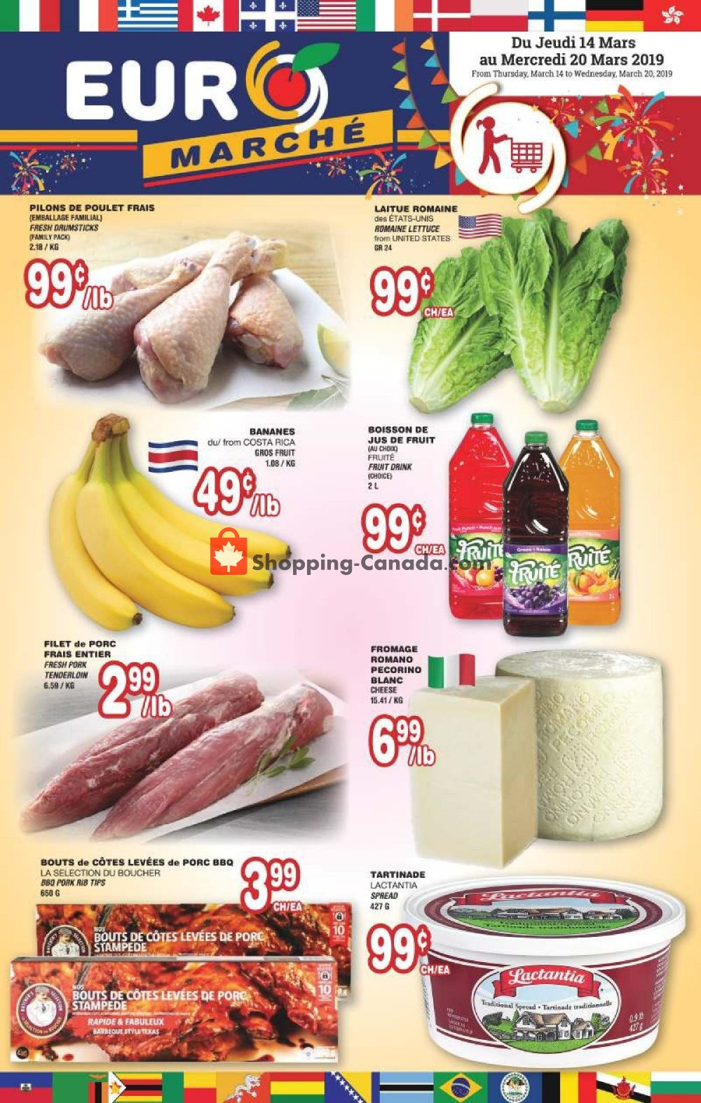 Flyer Euro Marché Canada - from Thursday March 14, 2019 to Wednesday March 20, 2019