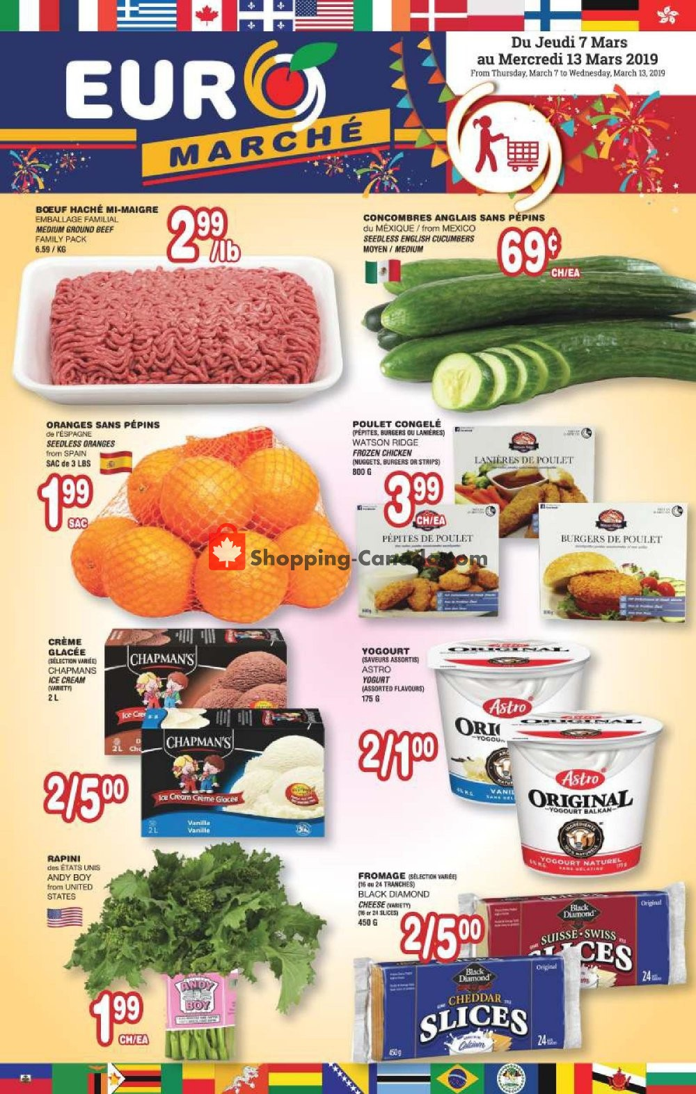 Flyer Euro Marché Canada - from Thursday March 7, 2019 to Wednesday March 13, 2019
