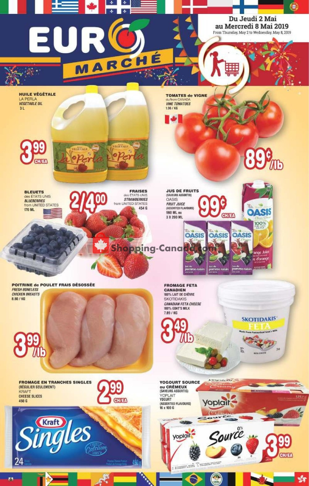 Flyer Euro Marché Canada - from Thursday May 2, 2019 to Wednesday May 8, 2019