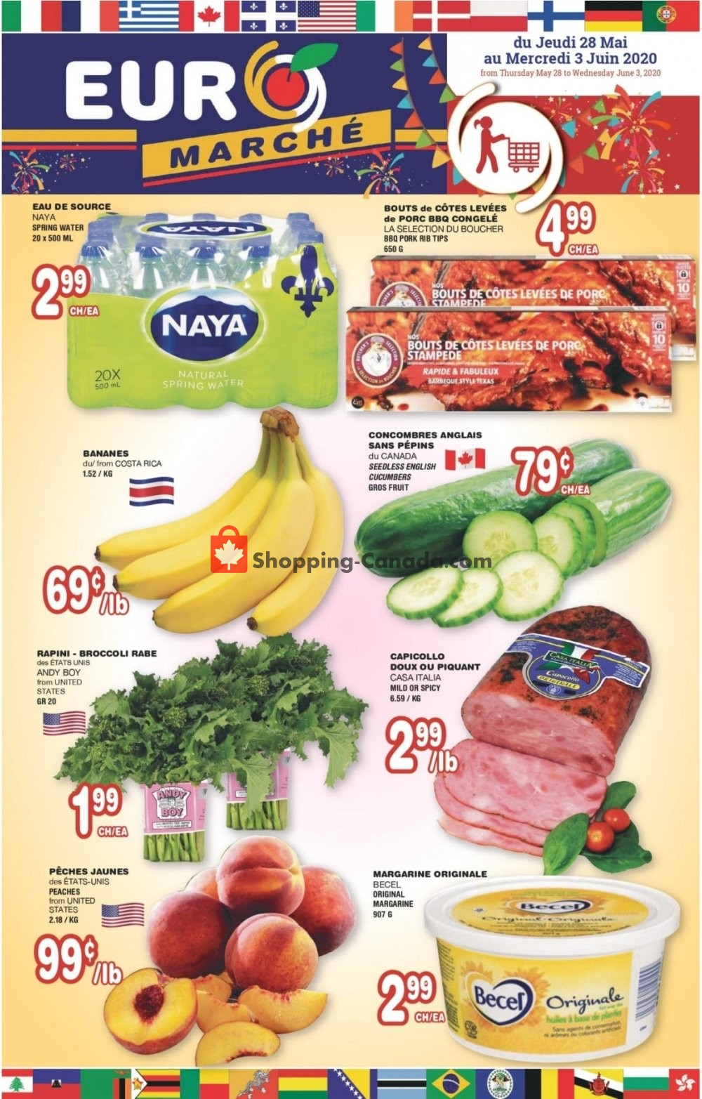 Flyer Euro Marché Canada - from Thursday May 28, 2020 to Wednesday June 3, 2020