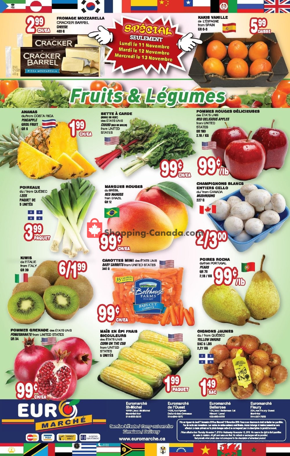 Flyer Euro Marché Canada - from Thursday November 7, 2019 to Wednesday November 13, 2019