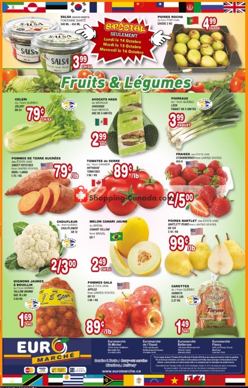 Flyer Euro Marché Canada - from Thursday October 10, 2019 to Wednesday October 16, 2019