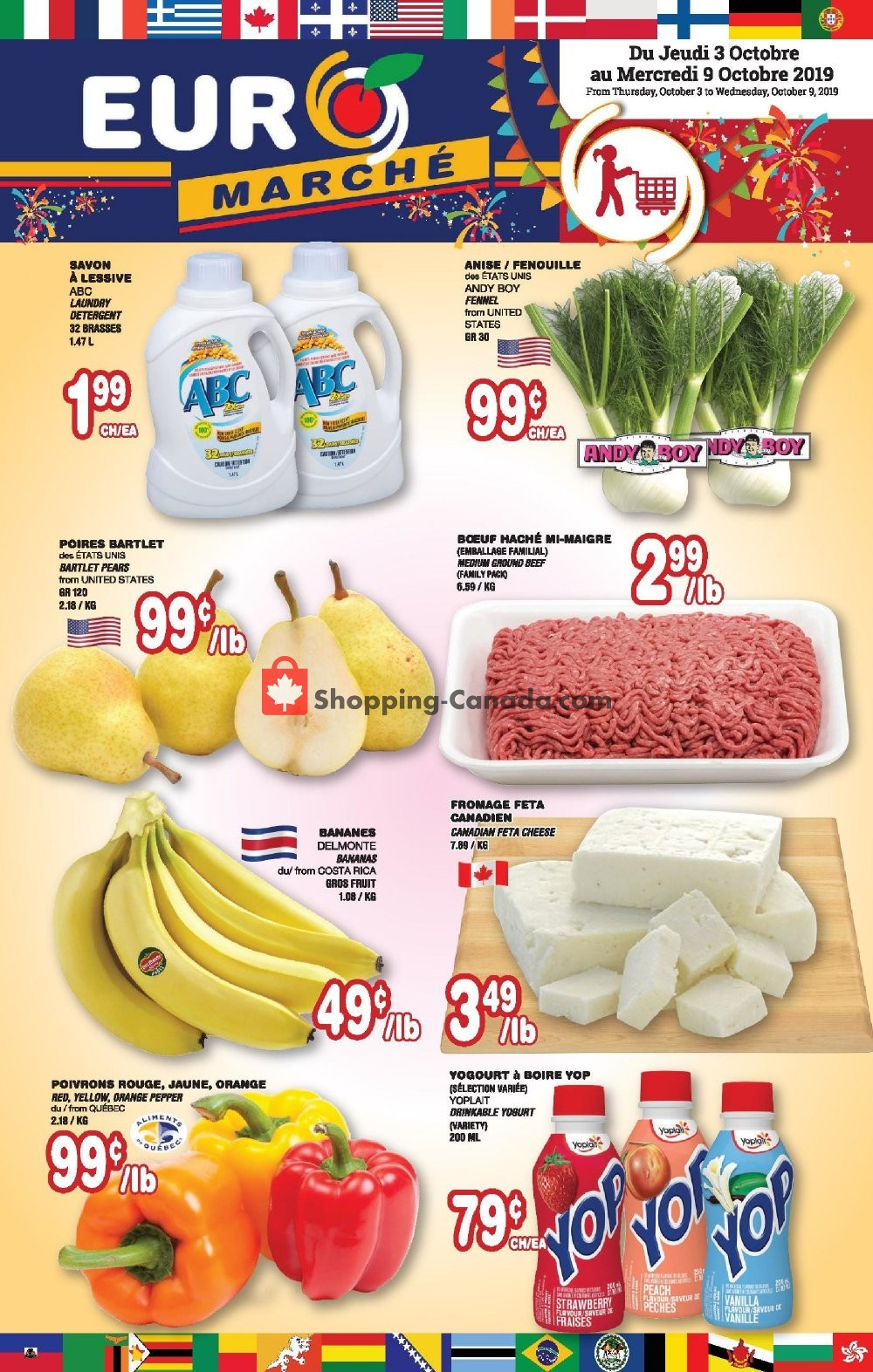 Flyer Euro Marché Canada - from Thursday October 3, 2019 to Wednesday October 9, 2019