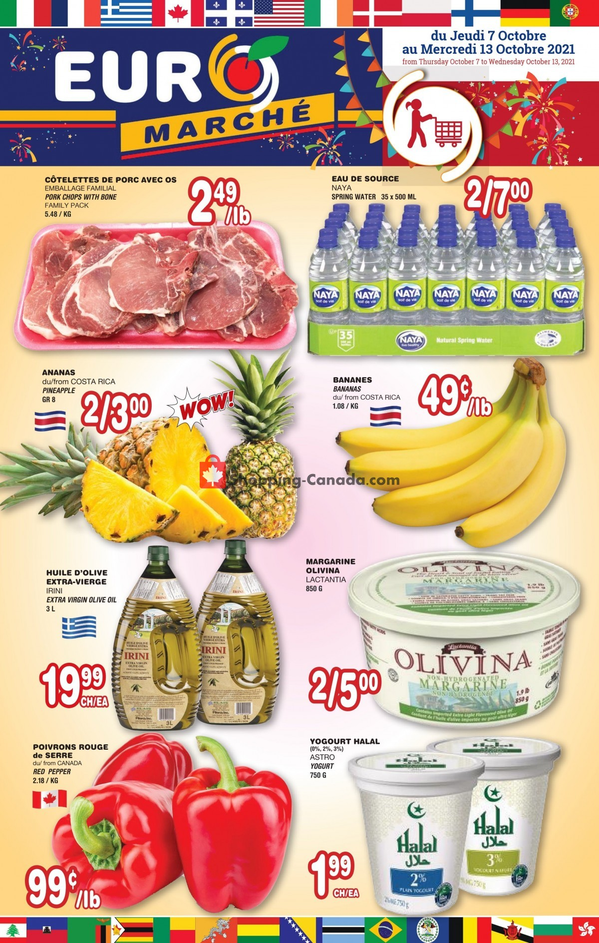 Flyer Euro Marché Canada - from Thursday October 7, 2021 to Wednesday October 13, 2021