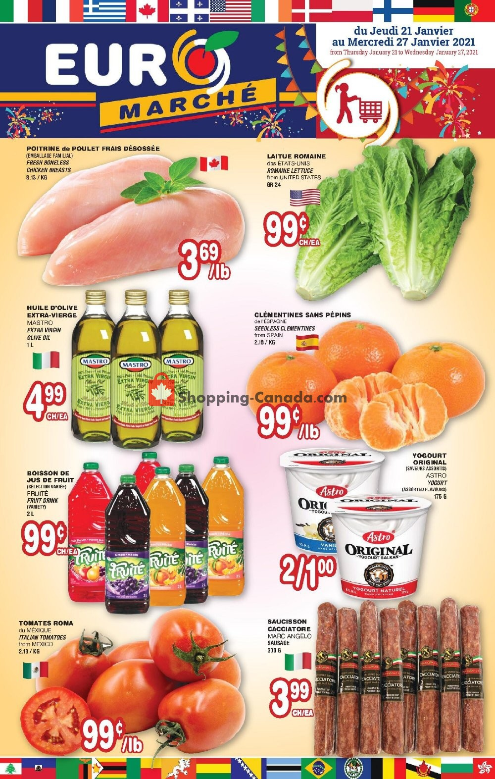 Flyer Euro Marché Canada - from Thursday January 21, 2021 to Wednesday January 27, 2021