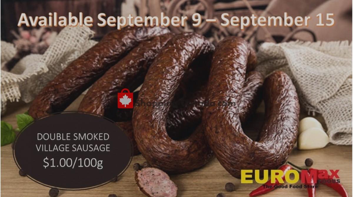 Flyer EuroMax Foods Canada - from Thursday September 9, 2021 to Wednesday September 15, 2021