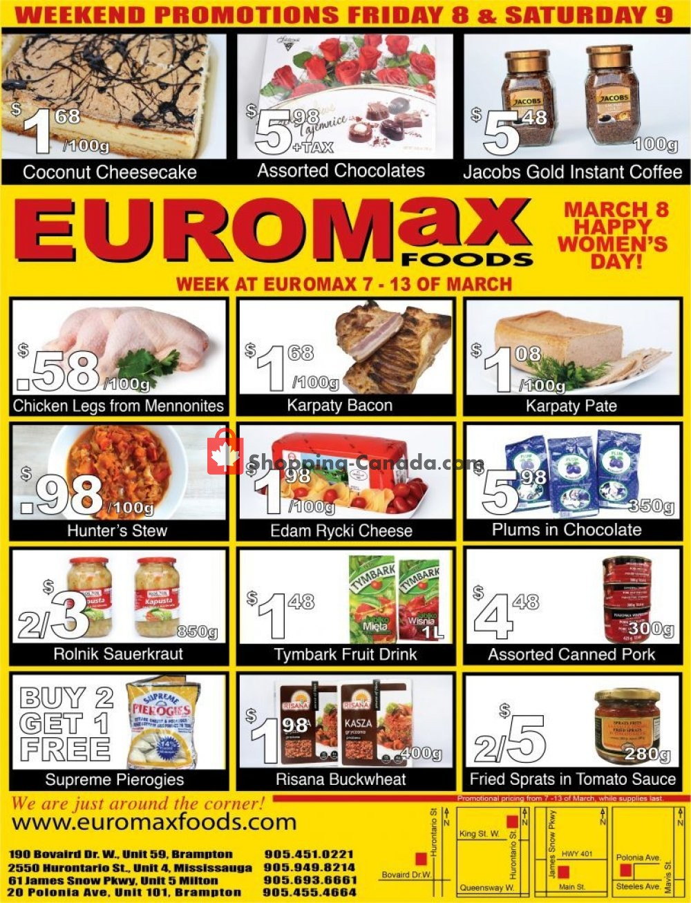 Flyer EuroMax Foods Canada - from Thursday March 7, 2019 to Wednesday March 13, 2019