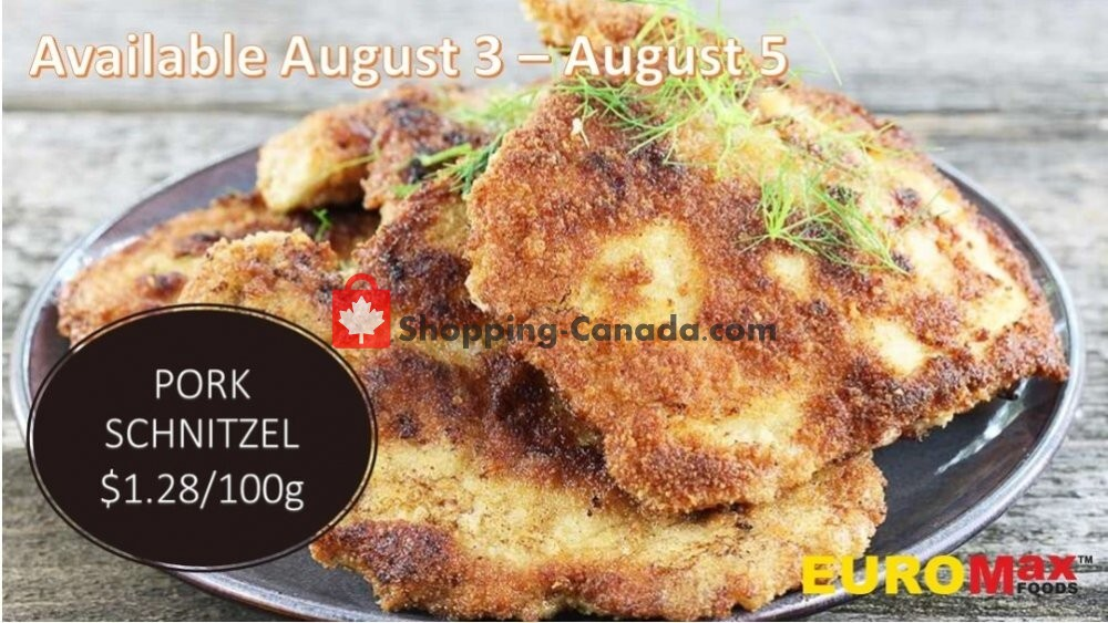 Flyer EuroMax Foods Canada - from Monday August 3, 2020 to Wednesday August 5, 2020