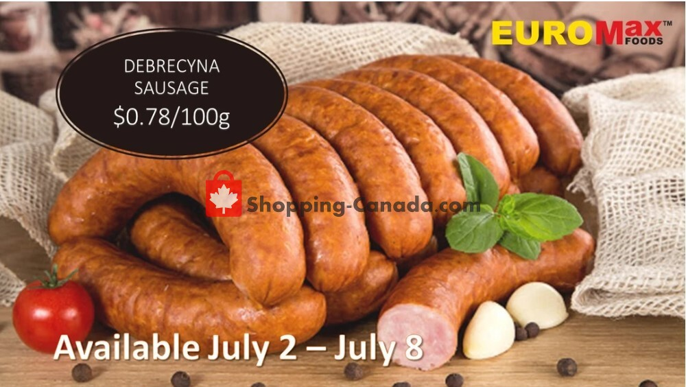 Flyer EuroMax Foods Canada - from Thursday July 2, 2020 to Wednesday July 8, 2020