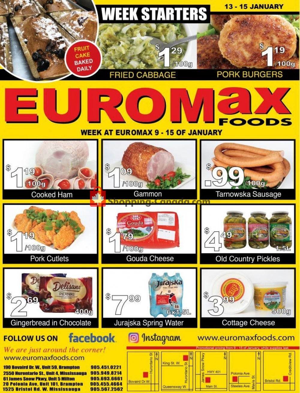 Flyer EuroMax Foods Canada - from Thursday January 9, 2020 to Wednesday January 15, 2020