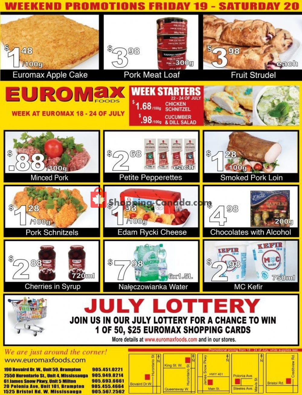 Flyer EuroMax Foods Canada - from Thursday July 18, 2019 to Wednesday July 24, 2019