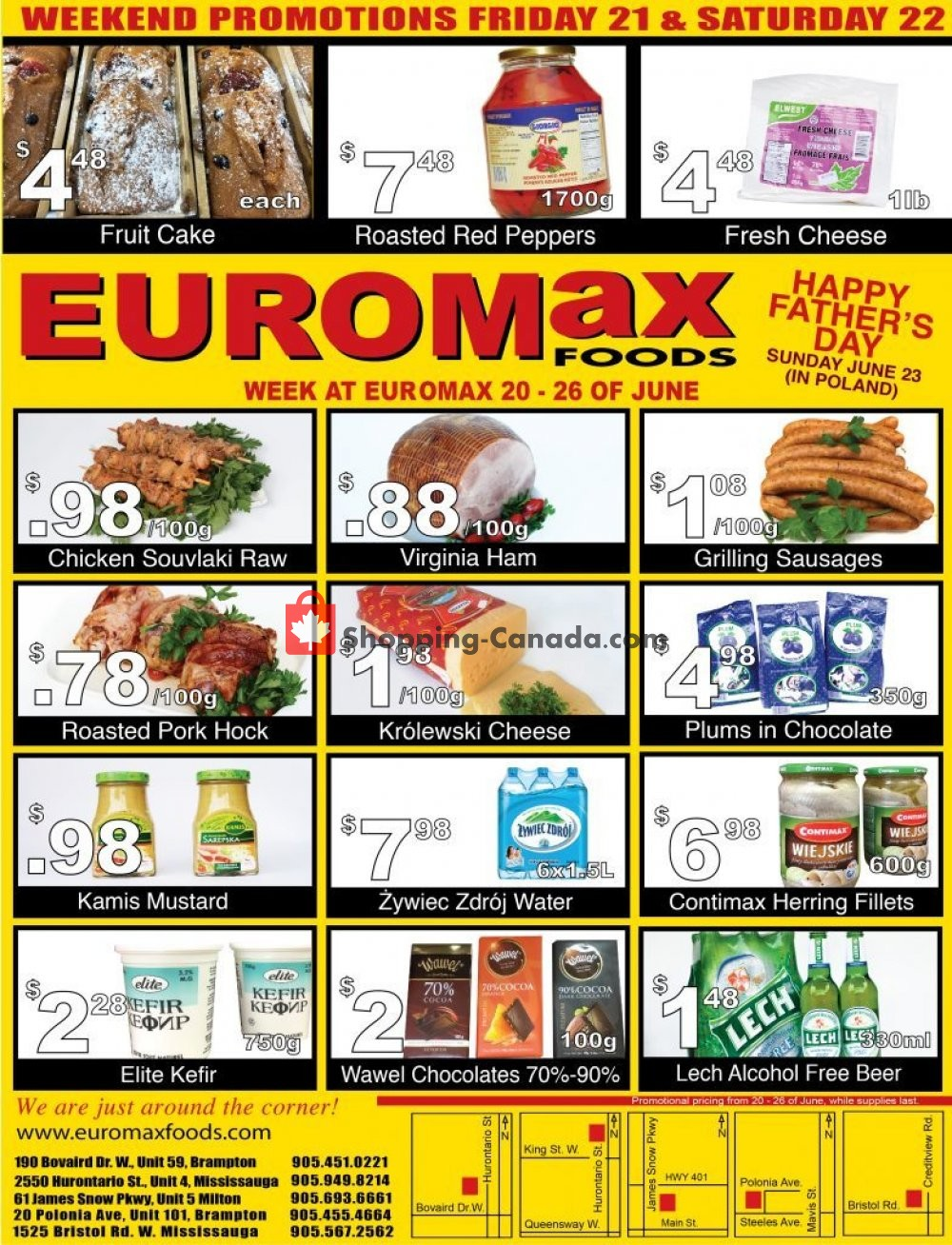 Flyer EuroMax Foods Canada - from Thursday June 20, 2019 to Wednesday June 26, 2019