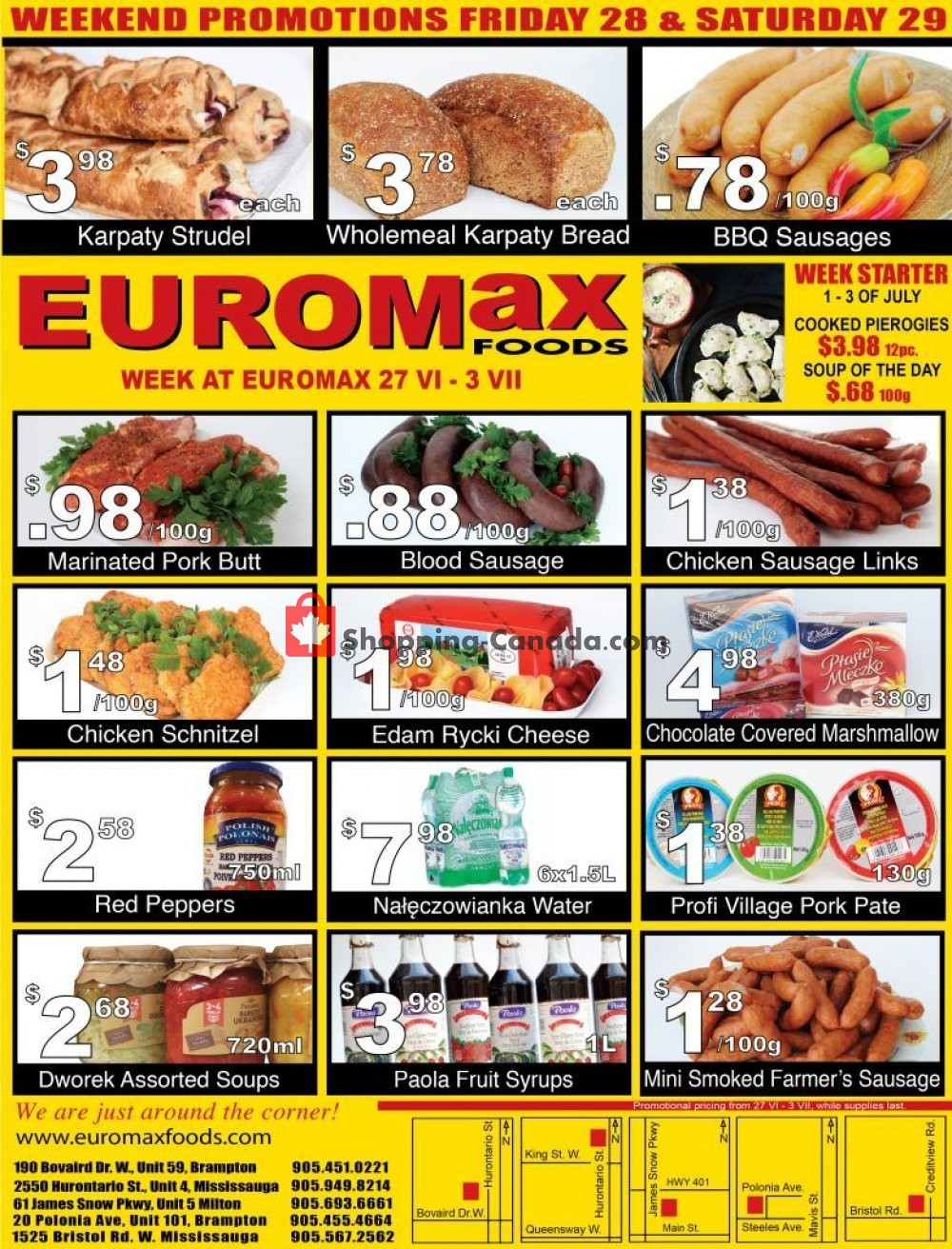 Flyer EuroMax Foods Canada - from Thursday June 27, 2019 to Wednesday July 3, 2019