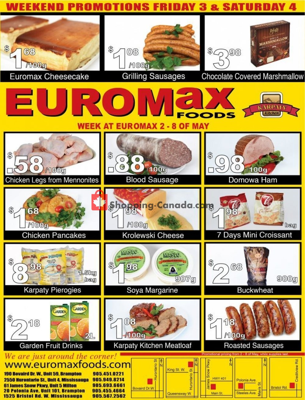 Flyer EuroMax Foods Canada - from Thursday May 2, 2019 to Wednesday May 8, 2019
