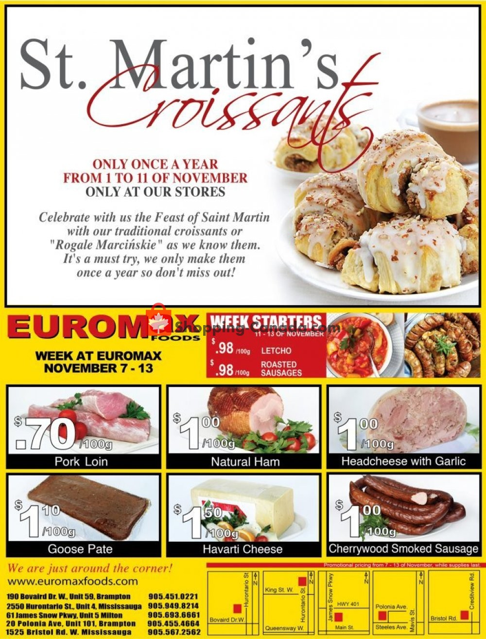 Flyer EuroMax Foods Canada - from Thursday November 7, 2019 to Wednesday November 13, 2019