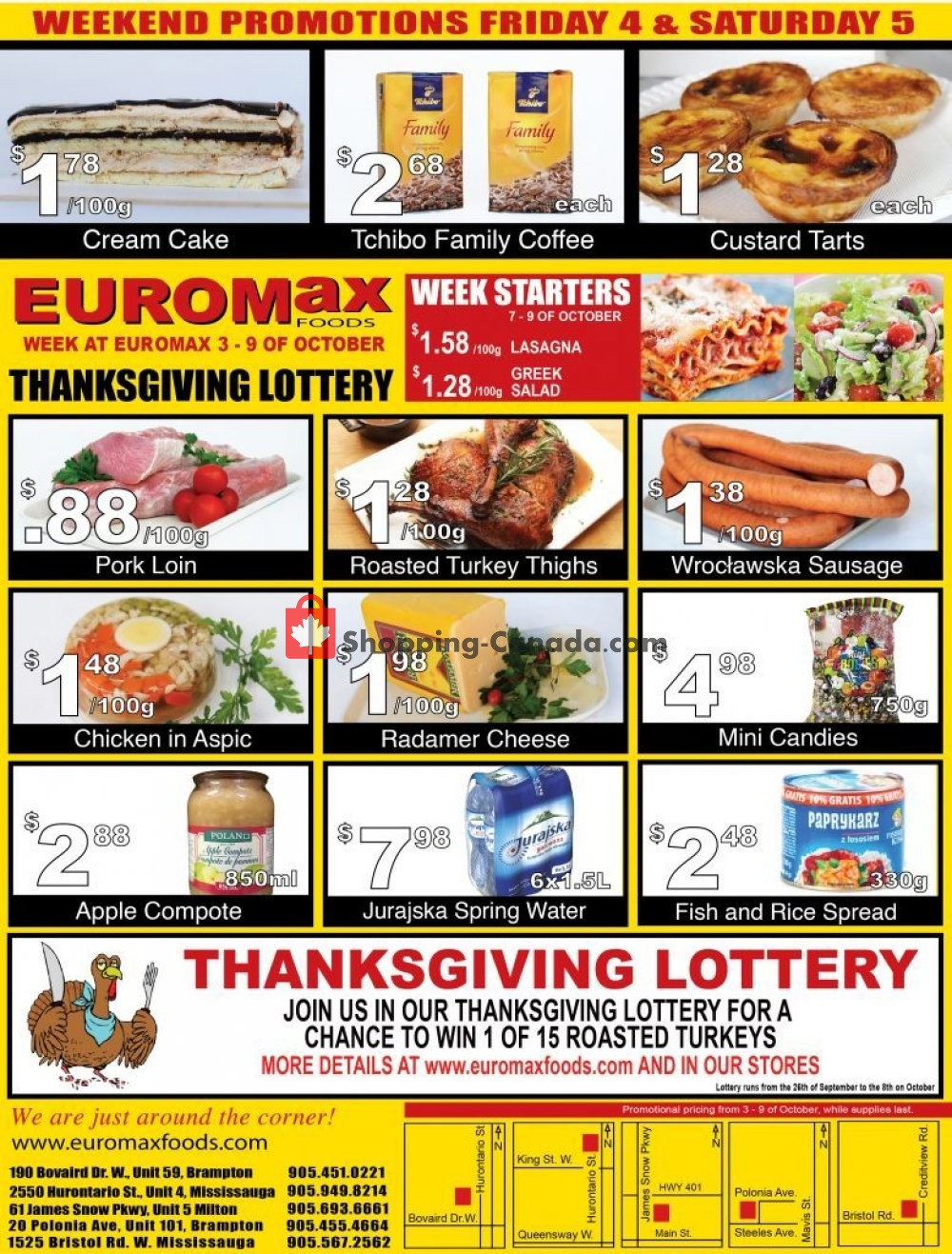 Flyer EuroMax Foods Canada - from Thursday October 3, 2019 to Wednesday October 9, 2019