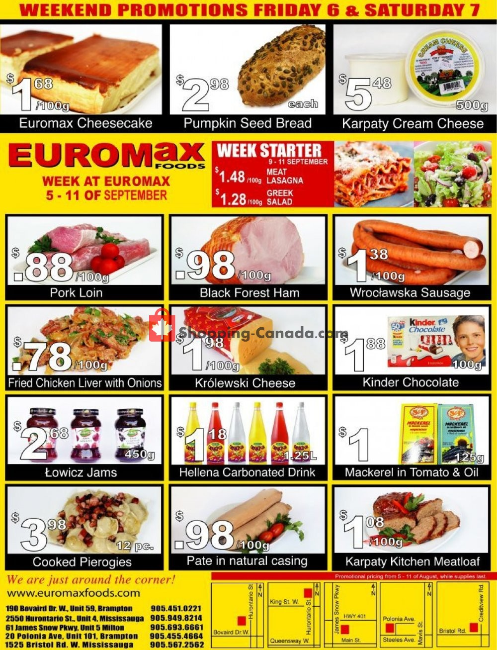 Flyer EuroMax Foods Canada - from Thursday September 5, 2019 to Wednesday September 11, 2019