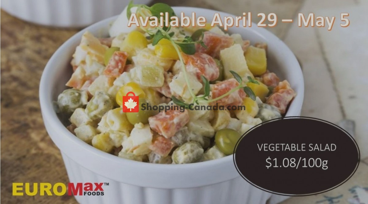 Flyer EuroMax Foods Canada - from Thursday April 29, 2021 to Wednesday May 5, 2021