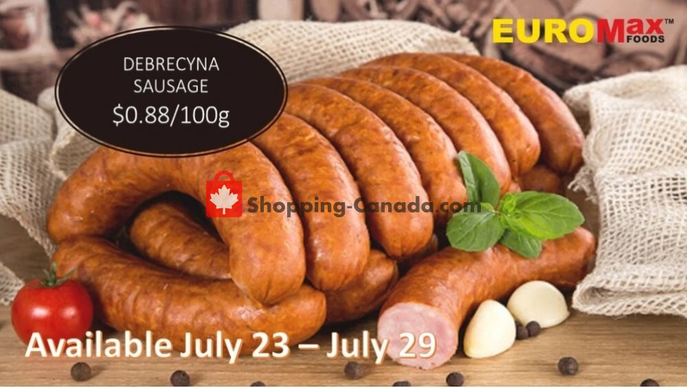 Flyer EuroMax Foods Canada - from Thursday July 23, 2020 to Wednesday July 29, 2020