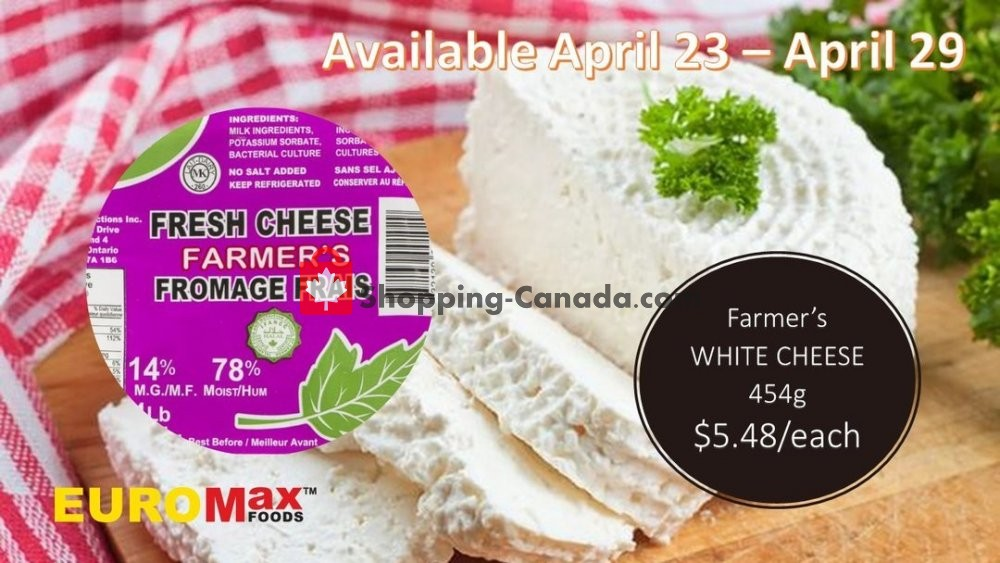 Flyer EuroMax Foods Canada - from Thursday April 23, 2020 to Wednesday April 29, 2020