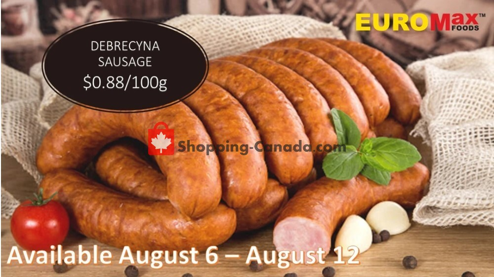 Flyer EuroMax Foods Canada - from Thursday August 6, 2020 to Wednesday August 12, 2020