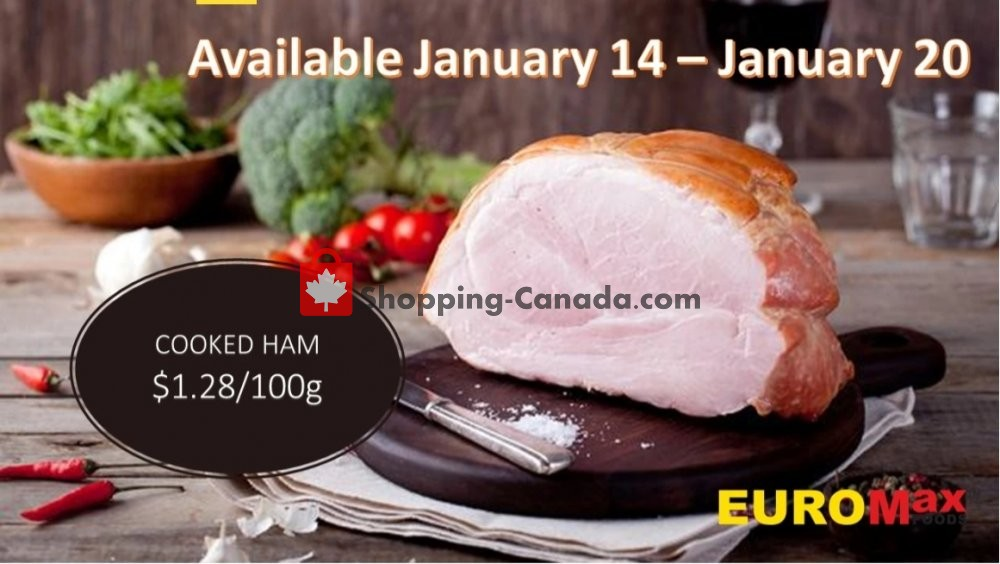Flyer EuroMax Foods Canada - from Thursday January 14, 2021 to Wednesday January 20, 2021