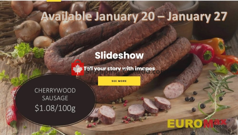 Flyer EuroMax Foods Canada - from Wednesday January 20, 2021 to Wednesday January 27, 2021