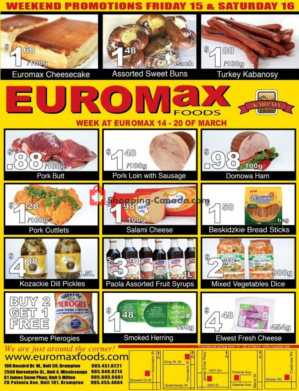 Flyer EuroMax Foods Canada - from Thursday March 14, 2019 to Wednesday March 20, 2019