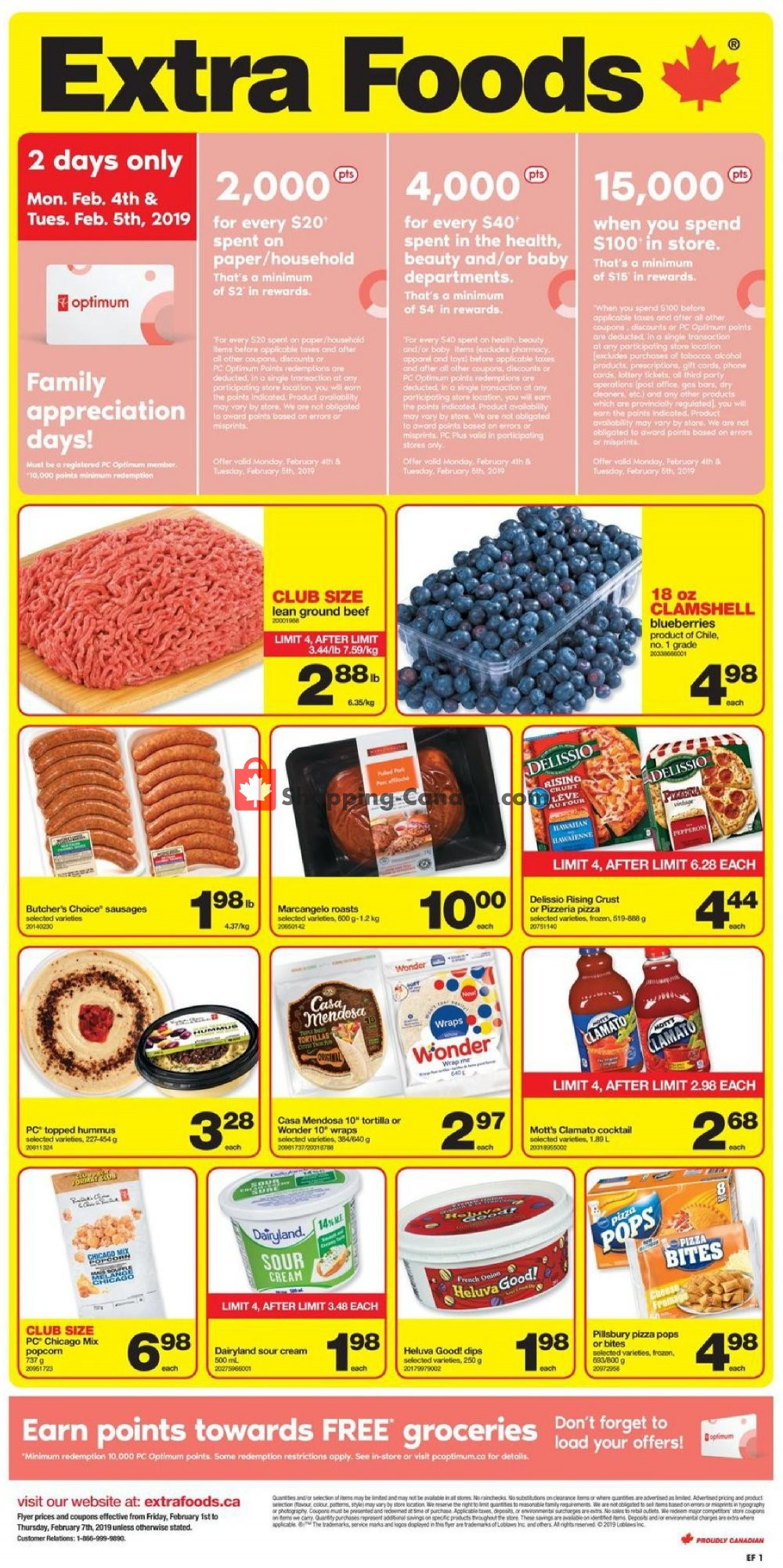 Flyer Extra Foods Canada - from Friday February 1, 2019 to Thursday February 7, 2019